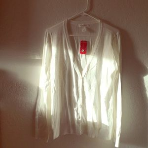 New Forever 21 white cardigan sweater